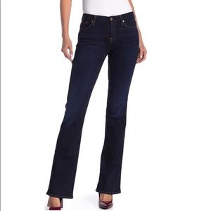 7 for all mankind kimmie dark wash boot cut jeans